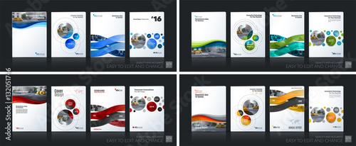 Fototapeta Business vector. Brochure template layout, cover soft design ann obraz