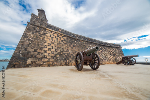 Deurstickers Canarische Eilanden Castillo de San Gabriel in Arrecife, Lanzarote, Canary Islands