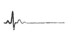 Abstract Heartbeat Icon. Vector Illustration.