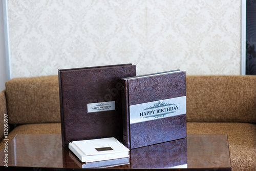 Valokuva  Leather handmade photobooks