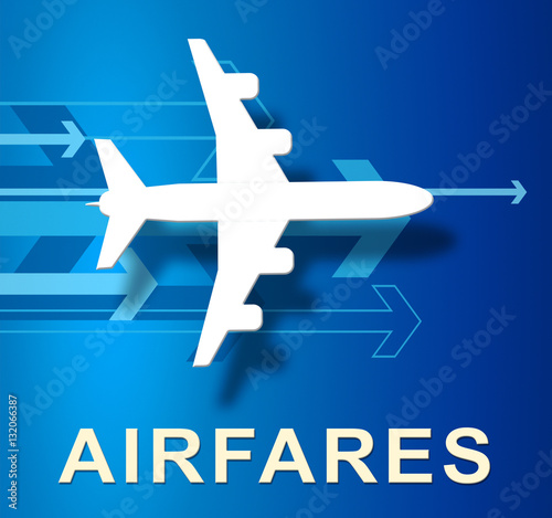 Photo Flight Airfares Means Aircraft Prices 3d Illustration