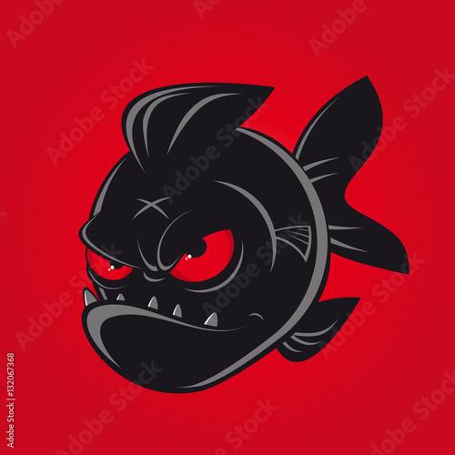 Fotografia, Obraz piranha clipart logo