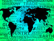 canvas print picture - World Map Background Meaning International Or Global.