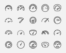 Set Of Speedometer Icons