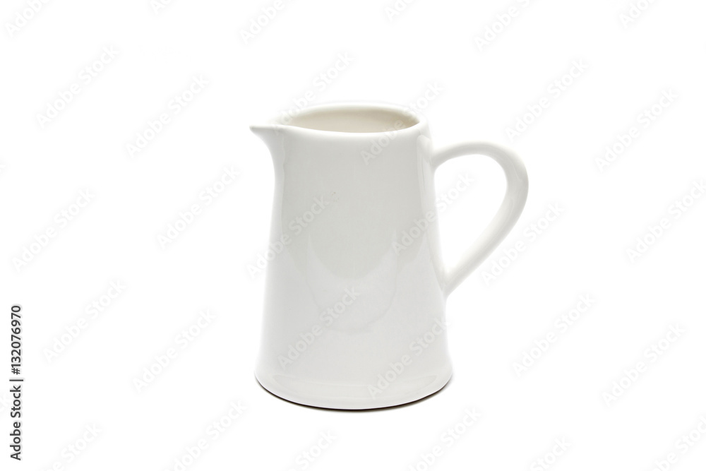Fototapety, obrazy: Isolated white jug