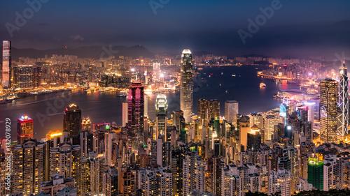 Fototapety, obrazy: 香港の夜景