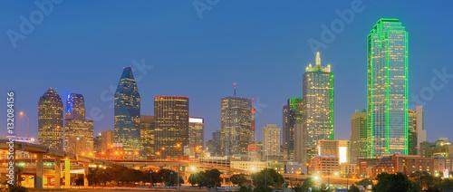 Poster Texas Downtown Dallas, Texas, USA