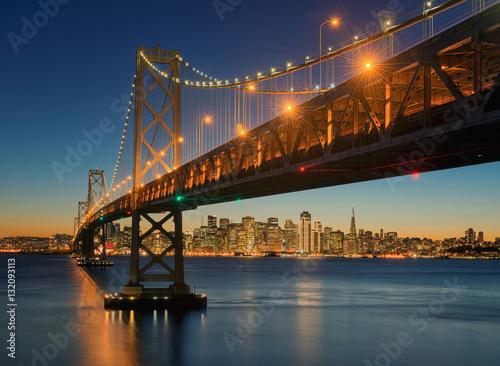 Keuken foto achterwand San Francisco The Bay Bridge, San Francisco, Californa, USA