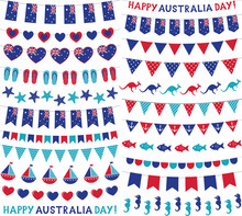 Bunting Decoration Set For Australia Day