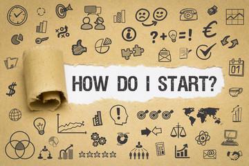 How Do I Start? Papier mit Symbole