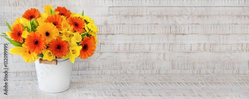 Blumenstrauß - Narzissen - Gebera