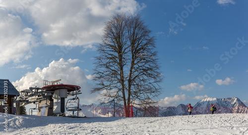 Ski Resort Gazprom, Krasnaya Polyana, Sochi National Park, Russia Tablou Canvas