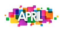 APRIL Vector Letters Icon