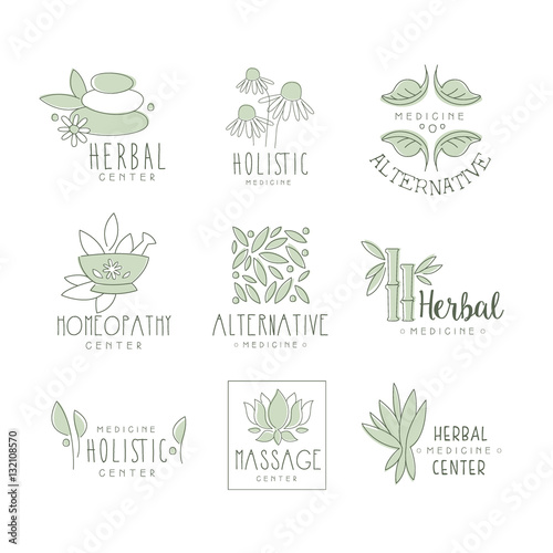 alternative medicine center with oriental herbal treatment and