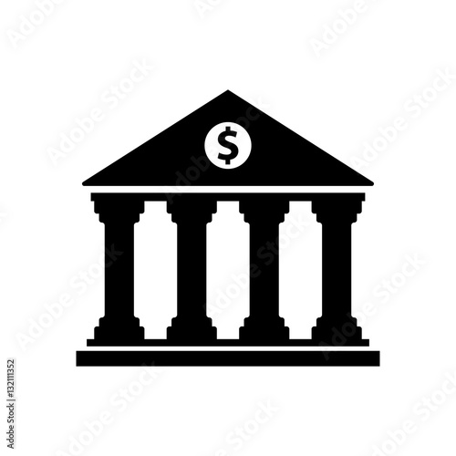 Fotografie, Obraz  bank building vector icon