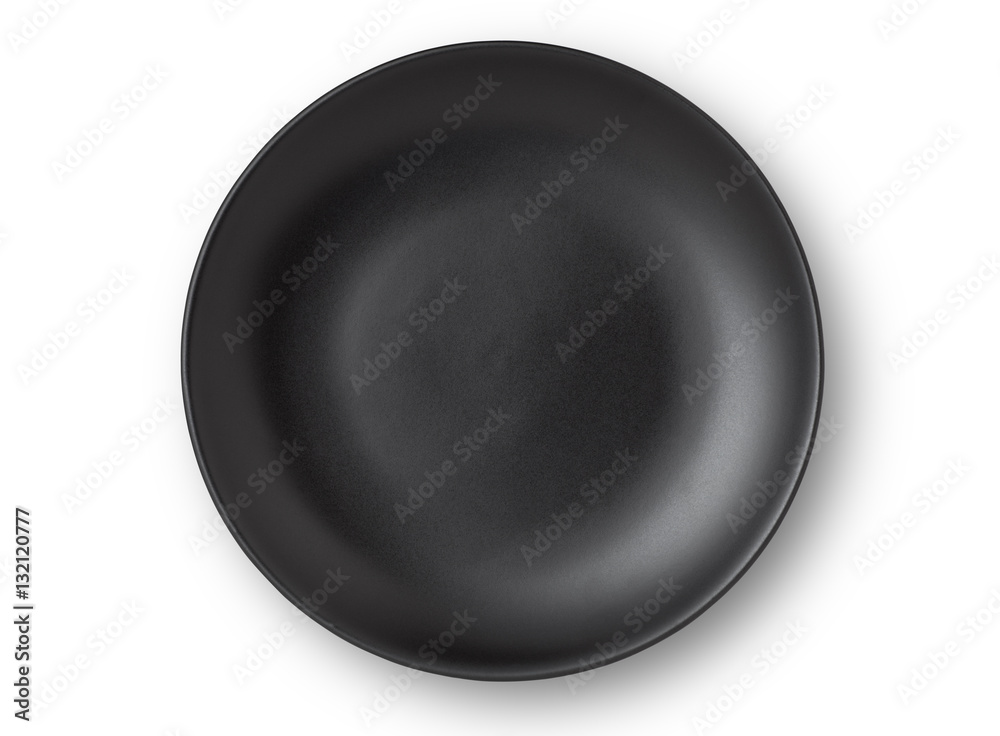 Fototapety, obrazy: Top view of empty plate on white background