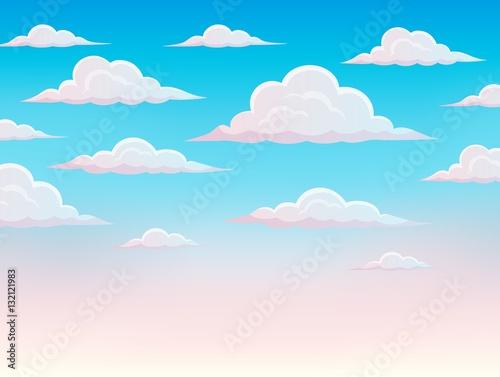 Poster Ciel Pink sky theme background 1