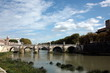 Rome bridge over the Tiber river