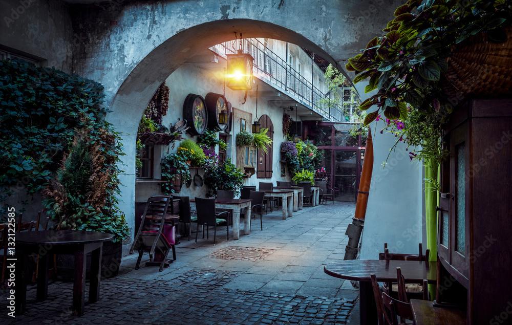 Fototapety, obrazy: Kazimierz street at night, Krakow, Poland