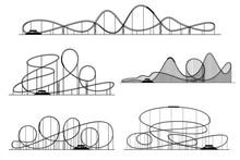 Roller Coaster Vector Silhouet...