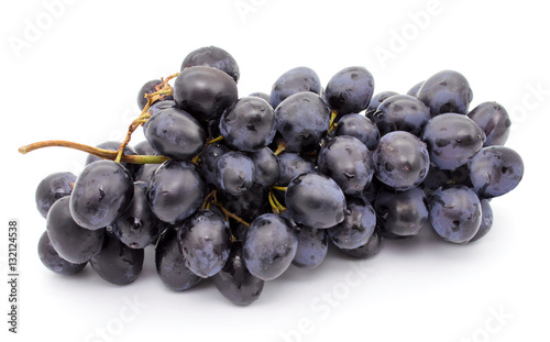 Fotografiet Grapes bunch isolated on a white background