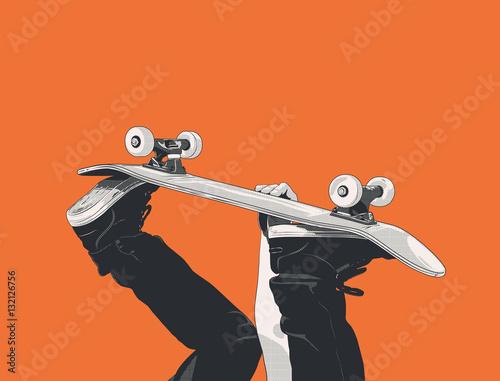 skateboard - handplant