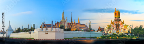 Wat Phra Kaew is most popular and landmark in bangkok ,Thailand (2 jan 2017)