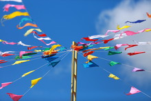 Flags And Streamers Of Various...