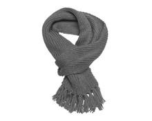 Gray Scarf On A White Background.