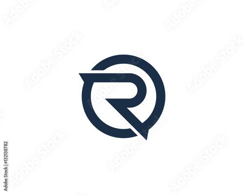 Photo  Letter R Circle Logo Design Element