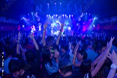 Fotografie, Obraz  blur club party