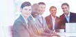 canvas print picture - Business group showing diversity in a meeting