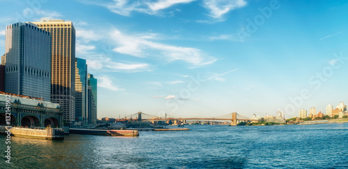 Foto op Aluminium New York View on Brooklyn from Staten Island Ferry, New York City