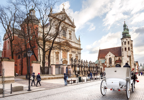 Fototapeta Krakow, Saints Peter, Paul and St. Andrew's Church obraz