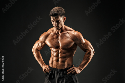 Fotografie, Obraz  bodybuilder posing