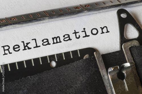 Fotografie, Obraz  Schreibmaschine_Reklamation
