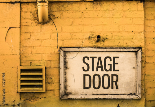 Grungy Stage Door Sign