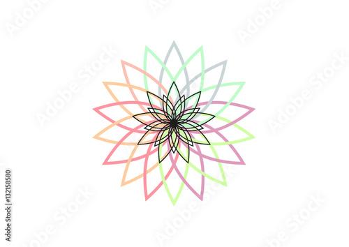 Lotus Flower Vector Illustration Buddhism Symbol Logo Or Icon
