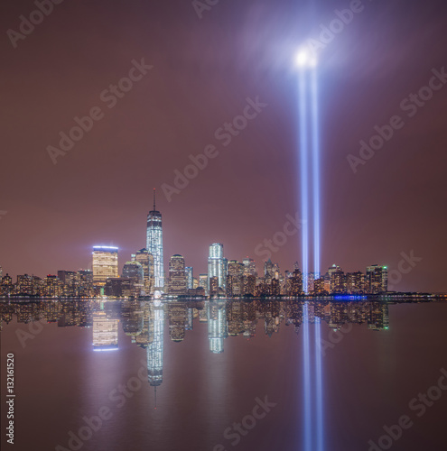 Poster  September 11th Lights reflecting