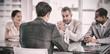 Leinwandbild Motiv Recruiters checking the candidate during job interview