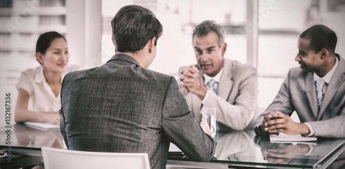Fotografia  Recruiters checking the candidate during job interview
