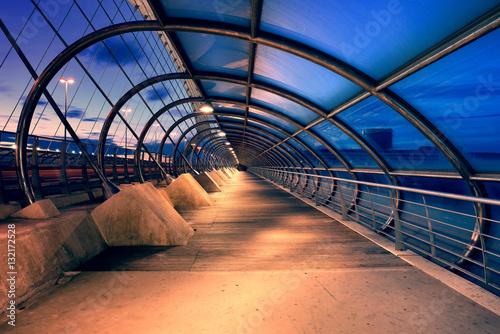 Third Millennium Bridge at Night, Saragozza, Spain