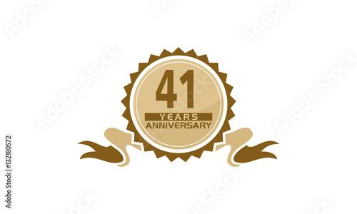 Fotografia  41 Years Ribbon Anniversary