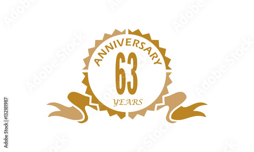 Fotografia  63 Years Ribbon Anniversary