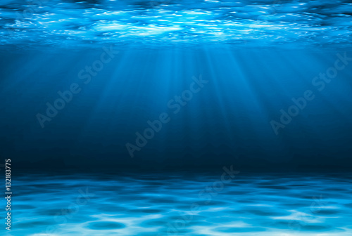Slika na platnu Blue deep water abstract natural background.