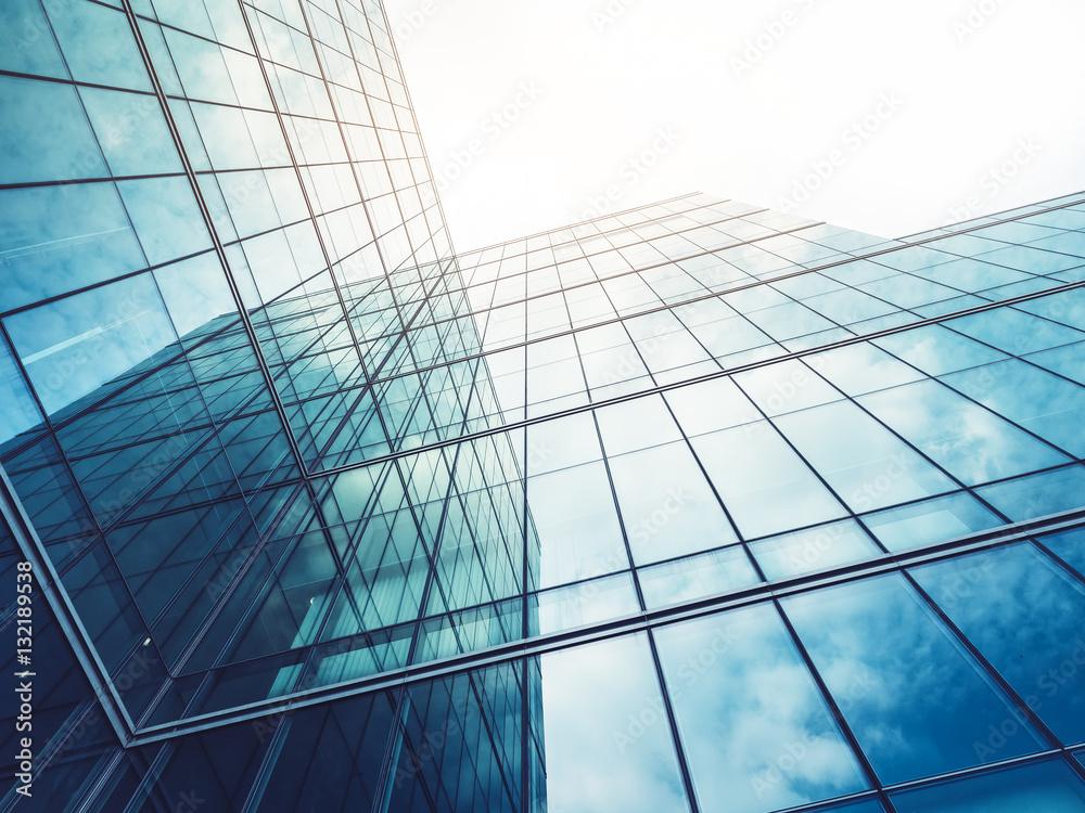 Fototapeta Architecture details Modern Building Glass facade Business background