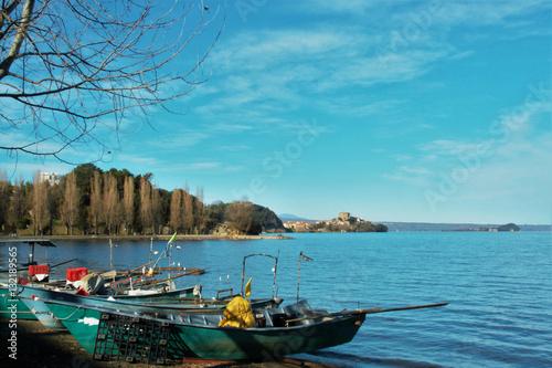 Valokuva  Marta village on Bolsena lake