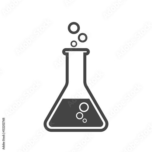 Fotografia  Chemical test tube pictogram icon