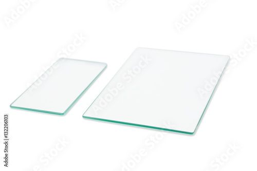 Two rectangular sheet of glass
