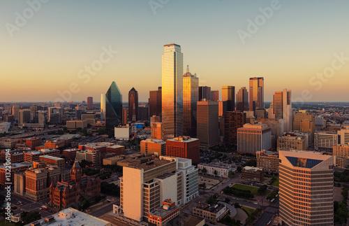 Foto op Plexiglas Texas Dallas, Texas cityscape at sunset, USA